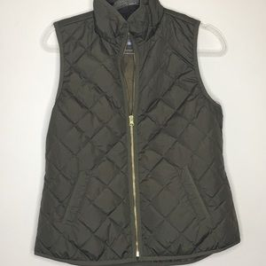 Old Navy Olive Green Quilted Vest